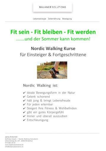 Nordic Walking Frühling Winterthur 2011