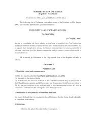 Act, 2006 - Food Safety and Standards Authority of India