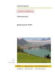 Bericht nach Art. 47 RPV - Brunnen