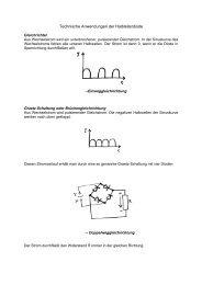 Technische Anwendungen der Halbleiterdiode