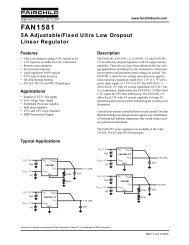 FAN1581 5A Adjustable/Fixed Ultra Low Dropout Linear Regulator