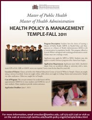health policy & management temple-fall 2011 - School of Rural ...