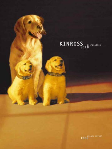 1996 Annual Report - Kinross Gold