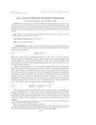 On a class of minimax stochastic programs - H. Milton Stewart ...