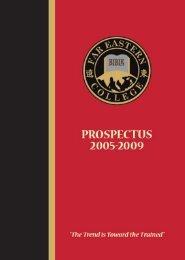 Prospectus - Far Eastern Bible College