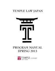 2013 Pre-departure Manual - Temple University Beasley School of ...