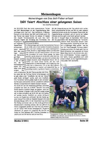Birdie - Das Disc-Golf-Magazin des DFV - Discgolf-Park Meinerzhagen