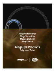 MegaSys ® Products – Gates Next Generation Hydraulics