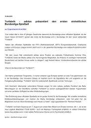 adidas präsentiert den ersten einheitlichen Bundesliga-Spielball