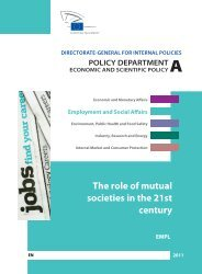 The role of mutual societies in the 21st century - European Parliament
