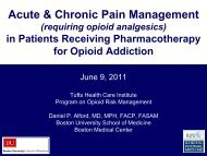Acute & Chronic Pain Management - Tufts Health Care Institute
