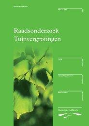 Onderzoeksrapport Tuinvergrotingen - Gemeenteraad Almere