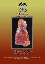 10 Jahre - AWO Mineraliengruppe