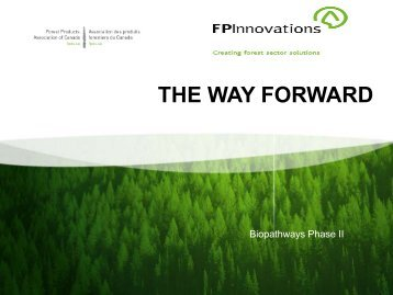 The Way Forward - Forest Products Association of Canada