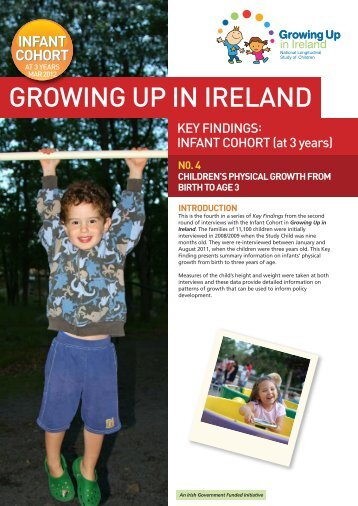 Physical Growth from Birth to 3-Years-Old - Growing Up in Ireland