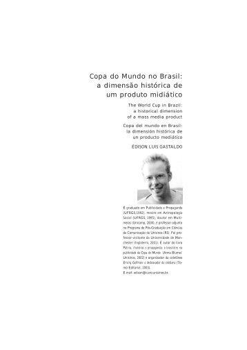 Copa do Mundo no Brasil: a dimensão histórica de um produto ...