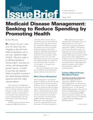 Medicaid Disease Management - State Coverage Initiatives
