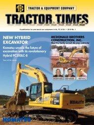 NEW HYBRID EXCAVATOR - TEC Tractor Times