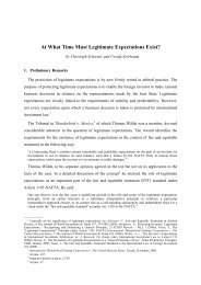 At What Time Must Legitimate Expectations Exist?
