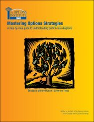 Mastering Options Strategies - CBOE.com