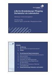 4.Berlin-Brandenburger Pflegetag Sterbekultur als Lebenskultur