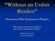 Newtown Pike Extension Project - Kentucky Transportation Cabinet
