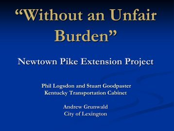 Newtown Pike Extension Project - Kentucky Transportation Cabinet