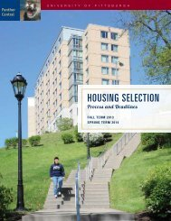 Housing Selection Process and Deadlines for Upperclassmen