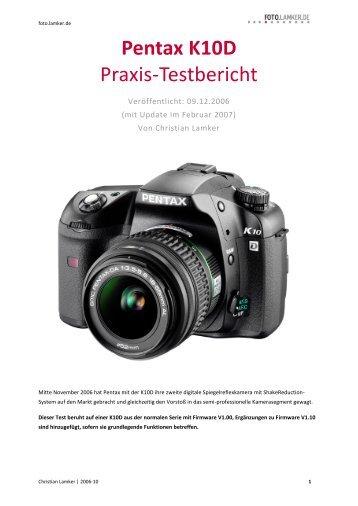Pentax K10D Praxis-Testbericht -  foto.lamker.de - Christian Lamker