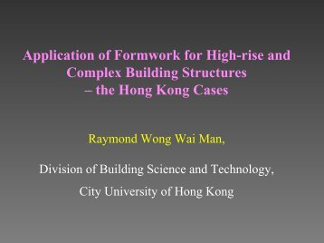 Application of Advanced Formwork System in HK (PDF)