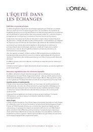 L'ÉQUITÉ DANS LES ÉCHANGES - Rapport de Développement ...