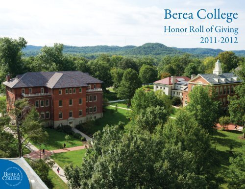 Honor Roll of Giving, 2011-2012 - Berea College