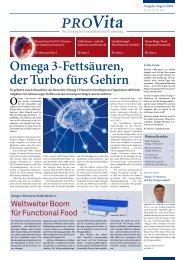 Omega 3-Fettsäuren, der Turbo fürs Gehirn - ProVita