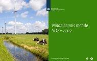 Maak kennis met de SDE+ 2012 | PDF | 15625 - Agentschap NL