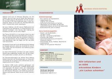 hiV-infizierten und an aids erkrankten Kindern - Michael Stich Stiftung