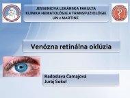 Retinálna venózna oklúzia (RVO)