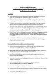 Verhaltenskodex für Betreuer des KJR Dachau zur Verhinderung ...