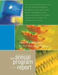 2007 Annual Report - New York State Small Business Development ...