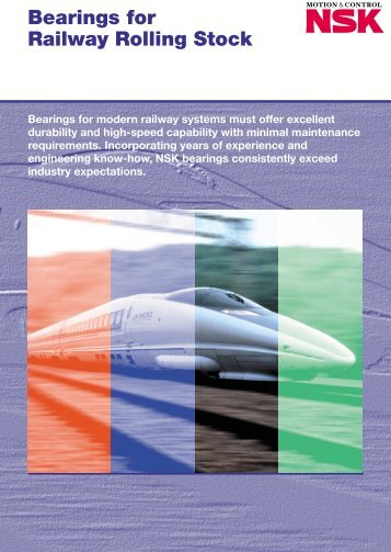 Introduction to Axle Bearings for Railway Rolling Stock
