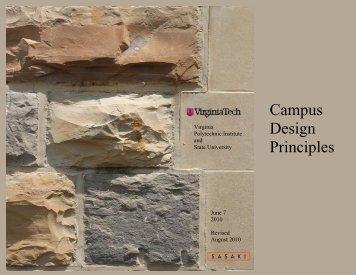 Campus Design Principles - Facilities Services - Virginia Tech