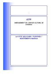 CCTP LOT 7 - Mairie de Caveirac