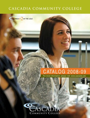 CATALOG 2008-09 - Cascadia Community College