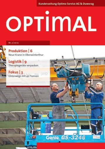 Produktion | 6 Logistik | 9 Fokus | 3 - Optimo Service AG