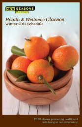 Health & Wellness Classes - New Seasons Market
