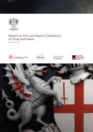 Report on The Lord Mayor's Conference on Trust and Values - ICAEW