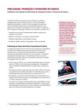 publicidade, promoção e patrocínio do tabaco - Campaign for ...