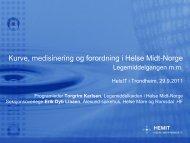 Kurve - medisinering - forordningsprosjektet i Helse Midt-Norge