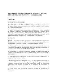 reglamento del consejo municipal de la agenda local 21 del ...
