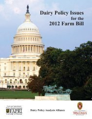 Dairy Policy Issues 2012 Farm Bill - FAPRI - University of Missouri