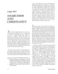ANARCHISM CHRISTIANITY - Jesus Radicals
